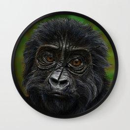 Baby Gorilla Wall Clock