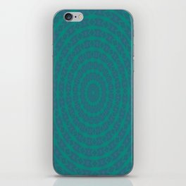 Aurora Radial Kaleidescope In Teal and Aqua iPhone Skin