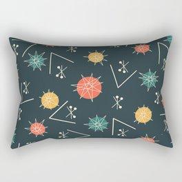 Mid Century Modern Sputnik Starburst Planets 5 Rectangular Pillow