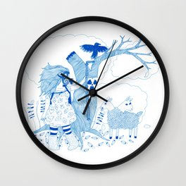 Ereshkigal Had a Little Lamb Wall Clock