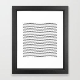 Minimalist Chevron Framed Art Print