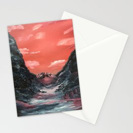 Reflections of a valley Stationery Cards