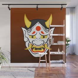 Hannya Mask Wall Mural