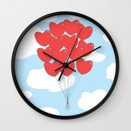 Floating Hearts Wall Clock