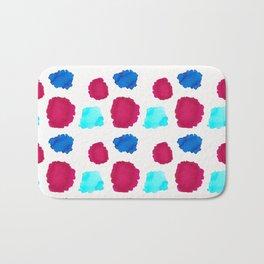 Watercolor Swashes Pattern Bath Mat
