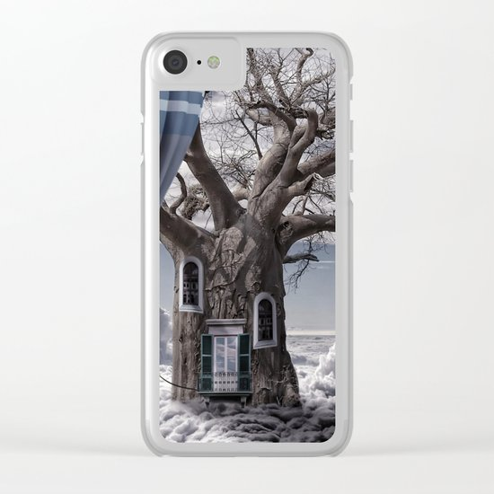 Home tree up in the clouds Clear iPhone Case