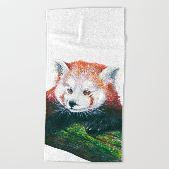 Red panda bear Beach Towel