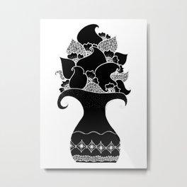 Amphora - Black White Metal Print