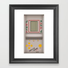 brick game Framed Art Print