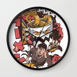 Ramen Attack Wall Clock