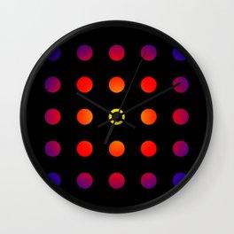 twentyfive dots o2 - soft Wall Clock