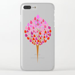 Tree Drop Art 1 Clear iPhone Case
