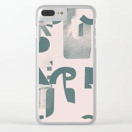 Typefart 005 Clear iPhone Case