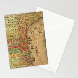 Vintage Map of Philadelphia Pennsylvania (1802) Stationery Cards