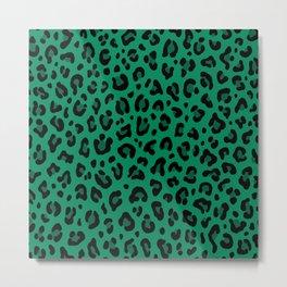 LEOPARD PRINT in GREEN | Collection : Leopard spots – Punk Rock Animal Print Metal Print