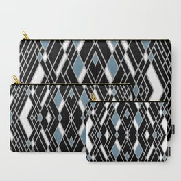 Art Deco Zoom Blue Carry-All Pouch