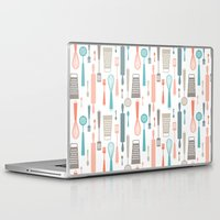 kitchen Laptop & iPad Skins featuring Kitchen utensils by Heleen van Buul