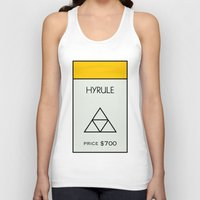 hyrule Tank Tops featuring Hyrule Monopoly location by HuckBlade