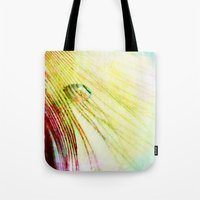 feather Tote Bags featuring Feather  by ALLY COXON