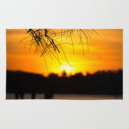 Belmont, Green Point, Australia Jetty at Sunset (Portrait) Rug