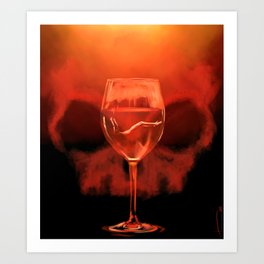 Something Red For Bedelia Art Print