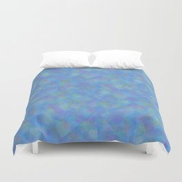 Soft Blue Cubism Abstract Duvet Cover