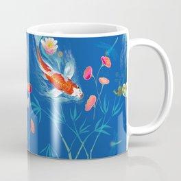 Blue Japanese Water Garden Coffee Mug
