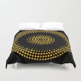 Abstract gold confetti Duvet Cover