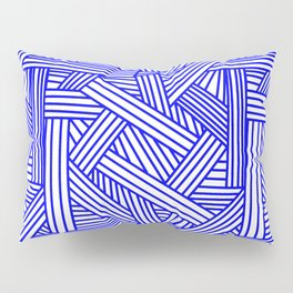 Sketchy Abstract (Blue & White Pattern) Pillow Sham