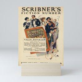 cartaz scribners fiction number. 1906 Mini Art Print