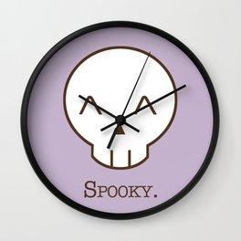 Spooky Skull Kawaii | Halloween Is Coming! Wall Clock