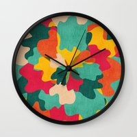 camo Wall Clocks featuring Aloha Camo by Picomodi