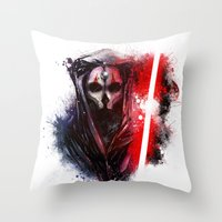 darth Throw Pillows featuring Darth Nihilus by Vincent Vernacatola