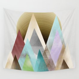 sunset peaks  Wall Tapestry