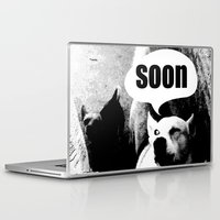 meme Laptop & iPad Skins featuring Dog meme: soon by Capadochio