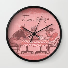 Tea Party! Wall Clock