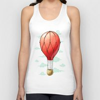 hot air balloon Tank Tops featuring Hot Air Balloon by Freeminds