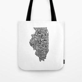 Typographic Illinois Tote Bag