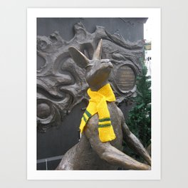 Aussie scarf on roo in King George Square Art Print