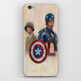 stay who you are, not a perfect soldier, but a good man... Captain America iPhone Skin