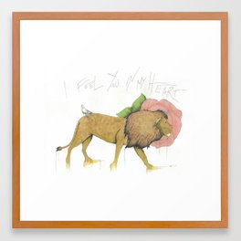 I Feel You In My Heart Framed Art Print