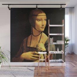 Lady with an Ermine by Leonardo da Vinci Wall Mural