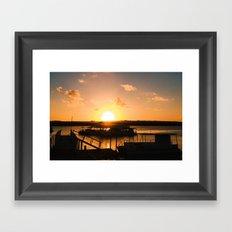 Sun is Going Down Framed Art Print
