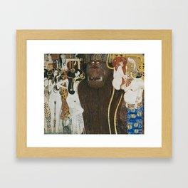 BEETHOVEN FRIEZE - GUSTAV KLIMT Framed Art Print