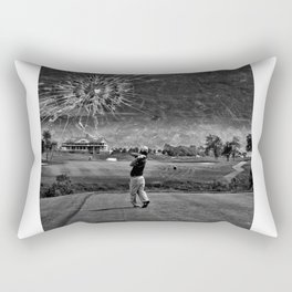 Broken Glass Sky - Black and White Version Rectangular Pillow