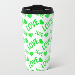 Love Heart Green Travel Mug