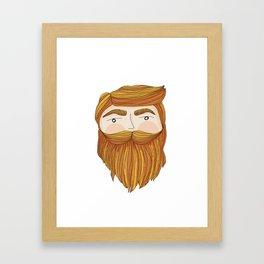 Gorgeous Ginger Beard Framed Art Print