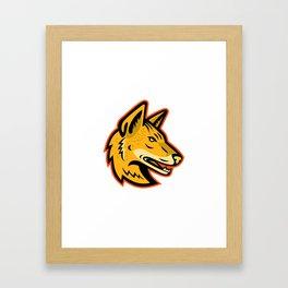 Arabian Wolf Head Mascot Framed Art Print
