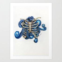 Chtulhu rib cage Art Print