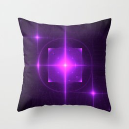 Purple Chakra Charging Throw Pillow